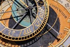 The Prague astronomical clock, or Prague orloj in Prague, Czech Republic Stock Photo