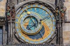 The Prague astronomical clock, or Prague orloj in Prague, Czech Republic Royalty Free Stock Photo