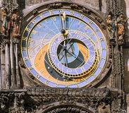 Prague astronomical clock or Prague orloj in Prague Stock Photography