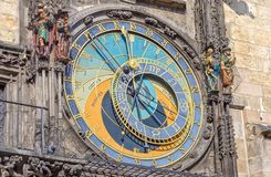 Prague astronomical clock. On the Staromestske Square Royalty Free Stock Photography