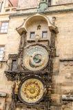 Prague astronomical clock. Sunny day Stock Photos