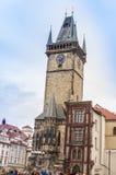 Prague astronomical clock. Sunny day Royalty Free Stock Photos