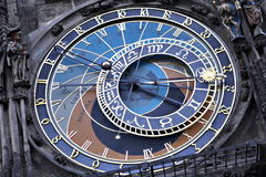 Prague astronomical clock tower Royalty Free Stock Images