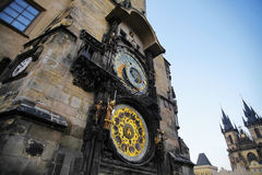 Prague astronomical clock tower Stock Images