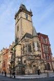 Prague Astronomical Clock Tower Stock Photo