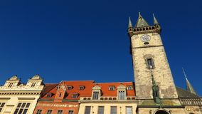 Prague Astronomical Clock tower in Old Town Square Royalty Free Stock Photos