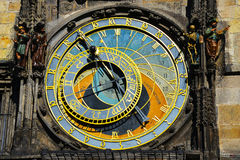 Prague Astronomical Clock. The Prague Astronomical Clock ws first installed in 1410, making the third-oldest astronomical clock in the world and the oldest one Royalty Free Stock Images