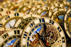 Prague astronomical clocks Stock Images