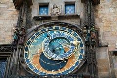 Prague Astronomical klocka arkivbild