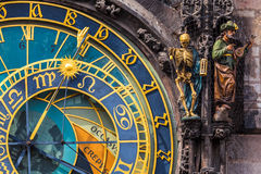 Prague Astronomical klocka Royaltyfria Bilder