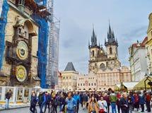 prague astronomiczna zegarowa czeska republika obraz royalty free