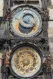 Prague astronomisk klocka Fotografering för Bildbyråer