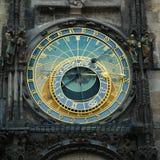 Prague astronomisk klocka Arkivfoton