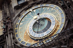 Prague astronomisk klocka Royaltyfria Foton