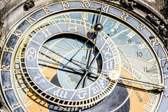 Prague astronomisk klocka royaltyfria bilder