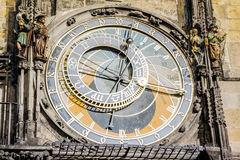 Prague astronomisk klocka Royaltyfri Foto