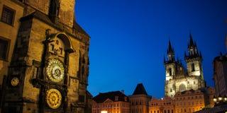 Prague astronomisk klocka 02 Arkivbilder