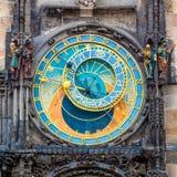 Prague astronomisk klocka & x28; Orloj& x29; i Prague Royaltyfri Fotografi