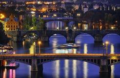 Free Prague At Night Stock Photo - 28117240