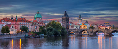 Prague At Sunrise. Royalty Free Stock Photos