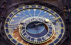 Prague atronomical clock. Old  atronomical clock in prague Royalty Free Stock Photography