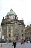 Prague,august 29:Ancient Church from Prague in Czech Republic Stock Photo
