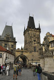 Prague,august 29-Charles Bridge from Prague in Czech Republic Royalty Free Stock Images