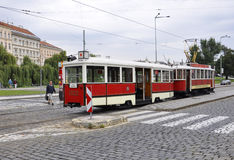Prague,august 29:City Tram in Prague,Czech Republic Royalty Free Stock Images