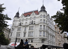 Prague,august 29:Historic Building view in Prague Czech Republic Royalty Free Stock Photo