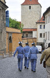 Prague,August 29:Hradcany Castle Patrol from Prague in Czech Republic Stock Photography