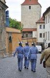 Prague,August 29:Hradcany Castle Patrol from Prague in Czech Republic stock photography