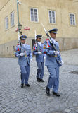 Prague,August 29:Hradcany Castle Patrol from Prague in Czech Republic Royalty Free Stock Photo