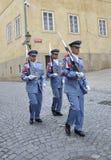 Prague,August 29:Hradcany Castle Patrol from Prague in Czech Republic royalty free stock photo