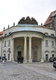 Prague,august 29:Hradcany Palace entrance from Prague in Czech Republic Stock Image