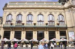 Prague,august 29:Municipal House facade in Prague Royalty Free Stock Image