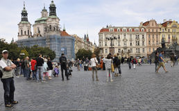 Prague,august 29:Old Town Plaza of Prague,Czech Republic Stock Photography