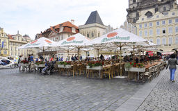 Prague,august 29:Old Town Plaza of Prague,Czech Republic Royalty Free Stock Images