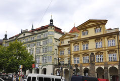 Prague,august 29:Row of Old Houses in Prague Czech Republic Royalty Free Stock Photos