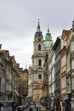 Prague,august 29:St Nicholas Church from Prague in Czech Republic Royalty Free Stock Photography