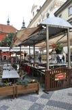 Prague,august 29:Terrace from Prague in Czech Republic Stock Photo
