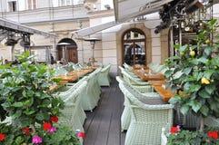 Prague,august 29:Terrace from Prague in Czech Republic Royalty Free Stock Photo