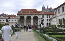 Prague,august 29: Wallenstein Palace courtyard from Prague in Czech Republic Royalty Free Stock Photo