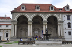 Prague,august 29:Wallenstein Palace from Prague in Czech Republic Stock Images