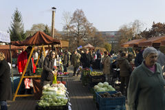 Prague autumn farmers markets Stock Photos