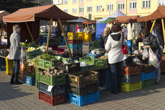 Prague autumn farmers markets Stock Photo