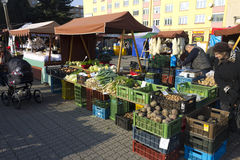 Prague autumn farmers markets Royalty Free Stock Images