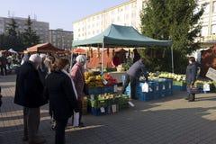 Prague autumn farmers markets Stock Photo