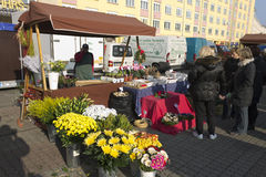 Prague autumn farmers markets Royalty Free Stock Photography