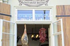 Prague bar royaltyfri fotografi