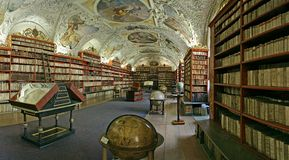 Prague-baroque library Stock Photo